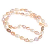 Barock kultivierten Süßwassersee Perlen, Natürliche kultivierte Süßwasserperlen, natürlich, gemischte Farben, 7-8, Bohrung:ca. 0.8mm, verkauft per ca. 15.5 ZollInch Strang