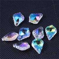 KRISTALLanhänger, Kristall, facettierte, gemischte Farben, 12x16mm, Bohrung:ca. 1mm, 20PCs/Tasche, verkauft von Tasche