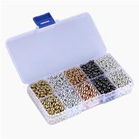 Verkupfertes Kunststoff-Perlen, Verkupferter Kunststoff, mit Kunststoff Kasten, Rechteck, plattiert, gemischte Farben, 4mm, 6mm, 22x65x130mm