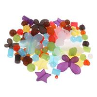 Gemischte Acrylperlen, Acryl, transluzent, 6mm-43x47x6mm, Bohrung:ca. 1-5mm, ca. 200PCs/Tasche, verkauft von Tasche
