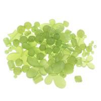 Transparente Acryl-Perlen, Acryl, transluzent, grün, 6mm-43x47x6mm, Bohrung:ca. 1-5mm, 200G/Tasche, verkauft von Tasche