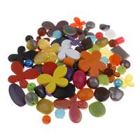 Gemischte Acrylperlen, Acryl, 6mm-43x47x6mm, Bohrung:ca. 1-5mm, 200G/Tasche, verkauft von Tasche