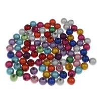 Rest Acryl Perlen, rund, verschiedene Größen vorhanden & traumhaft, gemischte Farben, Bohrung:ca. 1mm, 100PCs/Tasche, verkauft von Tasche