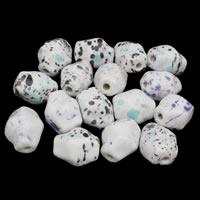 Porzellan Schmuckperlen, Handzeichnung, gemischtes Muster, 23x30mm, Bohrung:ca. 2mm, 20PCs/Tasche, verkauft von Tasche