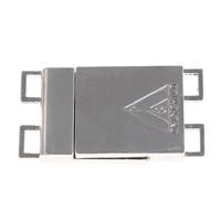 Zinklegierung Magnetverschluss, Rechteck, Platinfarbe platiniert, 2 strängig, frei von Blei & Kadmium, 38x20x5mm, Bohrung:ca. 5x3mm, 10PCs/Tasche, verkauft von Tasche