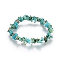comeon® Schmuck Armband, Natürliche Türkis, natürlich, für Frau, blau, frei von Nickel, Blei & Kadmium, verkauft per ca. 6.2 ZollInch Strang