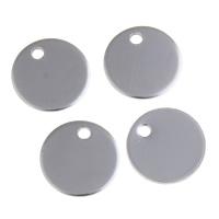 Edelstahl Schmuck Anhänger, flache Runde, originale Farbe, 12x0.8mm, Bohrung:ca. 1.5mm, verkauft von PC
