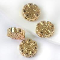 24K Gold Perlen, Messing, flache Runde, 24 K vergoldet, frei von Blei & Kadmium, 12.5x3.8mm, Bohrung:ca. 1.3mm, 20PCs/Tasche, verkauft von Tasche