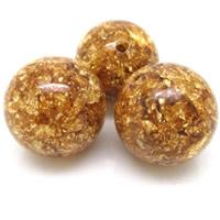 Imitierter Bernstein Harz Perlen, rund, verschiedene Größen vorhanden, Bohrung:ca. 1-2mm, 10PCs/Tasche, verkauft von Tasche