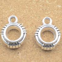 Zinklegierung Stiftöse Perlen, Trommel, antik silberfarben plattiert, frei von Blei & Kadmium, 13x10x4mm, Bohrung:ca. 1.5mm, 5mm, 30PCs/Tasche, verkauft von Tasche