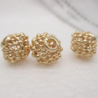 24K Gold Perlen, Messing, Laterne, 24 K vergoldet, hohl, frei von Blei & Kadmium, 7.5x9mm, Bohrung:ca. 1-2mm, 10PCs/Tasche, verkauft von Tasche