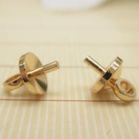 24K Gold Anhänger, Messing, 24 K vergoldet, frei von Blei & Kadmium, 5mm, Bohrung:ca. 1-2mm, 10PCs/Tasche, verkauft von Tasche