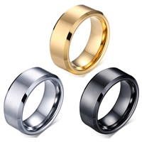 Edelstahl Herren-Fingerring, Wolfram Stahl, plattiert, verschiedene Größen vorhanden & für den Menschen, keine, 8mm, verkauft von PC