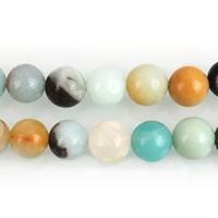 Amazonit Perlen, rund, natürlich, verschiedene Größen vorhanden, Bohrung:ca. 1-1.5mm, verkauft per ca. 15.5 ZollInch Strang
