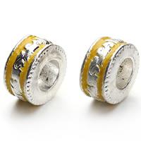 Cloisonne Perlen, Cloisonné, Rondell, handgemacht, großes Loch, 11x16mm, Bohrung:ca. 5mm, 10PCs/Tasche, verkauft von Tasche
