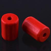 Zinnoberrot Perlen, Cinnabaris, Zylinder, 13x8mm, Bohrung:ca. 3mm, verkauft von PC