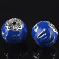 Cloisonne Perlen, Cloisonné, Trommel, handgemacht, 16mm, Bohrung:ca. 1mm, 10PCs/Tasche, verkauft von Tasche