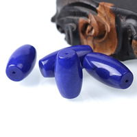 natürlicher Lapislazuli Perle, oval, verschiedene Größen vorhanden, tiefblau, Bohrung:ca. 1mm, 10PCs/Tasche, verkauft von Tasche