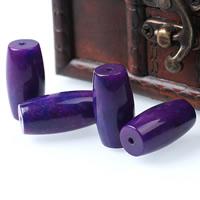 Natürliche violette Achat Perlen, Violetter Achat, oval, 15x30mm, Bohrung:ca. 1mm, verkauft von PC