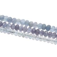 Aquamarin Perle, flache Runde, natürlich, März Birthstone & verschiedene Größen vorhanden & facettierte, Bohrung:ca. 1mm, verkauft per ca. 15.5 ZollInch Strang