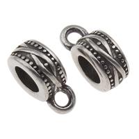 316 Edelstahl Stiftöse Perlen, Rondell, Schwärzen, 5x13mm, Bohrung:ca. 2mm, 5mm, verkauft von PC