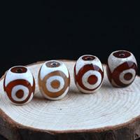 Zwei Ton Achat Perlen, Tibetan Achat, oval, natürlich, zweifarbig, gemischte Farben, 14x14mm, Bohrung:ca. 1-2mm, 2PCs/Tasche, verkauft von Tasche