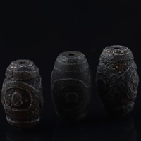 Zwei Ton Achat Perlen, Tibetan Achat, oval, zweifarbig, 20x15mm, Bohrung:ca. 1-2mm, verkauft von PC