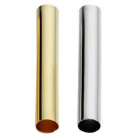 Messing Rohr Perlen, plattiert, keine, frei von Nickel, Blei & Kadmium, 30mm, Bohrung:ca. 4mm, 100PCs/Tasche, verkauft von Tasche