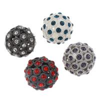 Strass Zinklegierung Perlen, rund, plattiert, mit Strass & hohl, keine, frei von Blei & Kadmium, 26mm, Bohrung:ca. 3.5mm, verkauft von PC