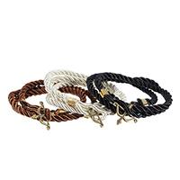 Nylonschnur Armbänder, mit Zinklegierung, Pfeil, plattiert, 3-Strang, keine, frei von Nickel, Blei & Kadmium, verkauft per ca. 22.8 ZollInch Strang