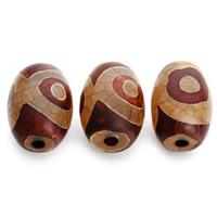 Natürliche Tibetan Achat Dzi Perlen, Trommel, 15x23mm, Bohrung:ca. 2mm, 5PCs/Tasche, verkauft von Tasche
