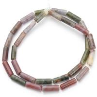 Natürliche Indian Achat Perlen, Indischer Achat, Zylinder, 4.5x13mm, Bohrung:ca. 1mm, ca. 30PCs/Strang, verkauft per ca. 15.5 ZollInch Strang
