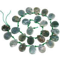 Natürliche Indian Achat Perlen, Indischer Achat, Tropfen, 13.5x18mm, Bohrung:ca. 1mm, ca. 24PCs/Strang, verkauft per ca. 15.5 ZollInch Strang