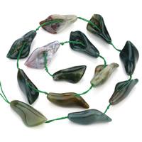 Natürliche Indian Achat Perlen, Indischer Achat, Lautsprecher, 14x28mm, Bohrung:ca. 1mm, ca. 13PCs/Strang, verkauft per ca. 15.5 ZollInch Strang