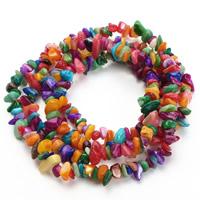Natürliche Süßwasser Muschel Perlen, Klumpen, gemischte Farben, 5-8mm, Bohrung:ca. 1.5mm, ca. 120PCs/Strang, verkauft per ca. 31 ZollInch Strang