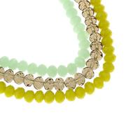 Rondell Kristallperlen, Kristall, facettierte, mehrere Farben vorhanden, 6x4mm, Bohrung:ca. 1mm, Länge:ca. 17 ZollInch, 10SträngeStrang/Tasche, ca. 97PCs/Strang, verkauft von Tasche