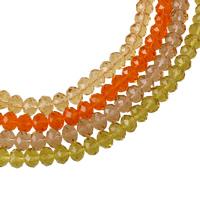 Rondell Kristallperlen, Kristall, facettierte, mehrere Farben vorhanden, 9x7mm, Bohrung:ca. 1mm, Länge:ca. 16.5 ZollInch, 10SträngeStrang/Tasche, ca. 72PCs/Strang, verkauft von Tasche
