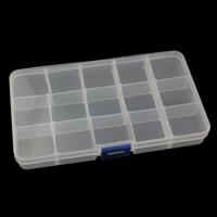 Schmuck Nagelkasten, Kunststoff, Rechteck, abnehmbare & 15 Zellen, 175x100x23mm, verkauft von PC