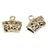 Zinklegierung Stiftöse Perlen, vergoldet, frei von Blei & Kadmium, 14x13x6mm, Bohrung:ca. 1mm, 3x5mm, 10PCs/Tasche, verkauft von Tasche