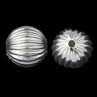 Verkupfertes Kunststoff-Perlen, Verkupferter Kunststoff, Trommel, silberfarben plattiert, 16mm, Bohrung:ca. 1.5mm, 30PCs/Tasche, verkauft von Tasche