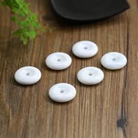 Riesenmuscheln Perlen, Riesenmuschel, flache Runde, natürlich, weiß, Grade AAAAA, 28x7mm, Bohrung:ca. 1-3mm, verkauft von PC