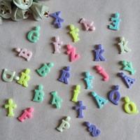 Alphabet Acryl Perlen, mit Brief Muster, gemischte Farben, 12mm, Bohrung:ca. 1mm, ca. 2400PCs/Tasche, verkauft von Tasche