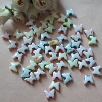 Chemische Wash Acryl Perlen, Schmetterling, chemische-Waschanlagen, gemischte Farben, 10x12mm, Bohrung:ca. 1mm, ca. 1300PCs/Tasche, verkauft von Tasche