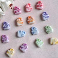 Chemische Wash Acryl Perlen, chemische-Waschanlagen, gemischte Farben, 9x12mm, Bohrung:ca. 1mm, ca. 1400PCs/Tasche, verkauft von Tasche