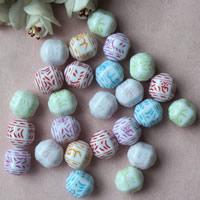 Chemische Wash Acryl Perlen, chemische-Waschanlagen, gemischte Farben, 14x14mm, Bohrung:ca. 1mm, ca. 270PCs/Tasche, verkauft von Tasche
