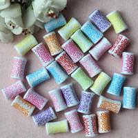 Chemische Wash Acryl Perlen, chemische-Waschanlagen, gemischte Farben, 10x10mm, Bohrung:ca. 1mm, ca. 400PCs/Tasche, verkauft von Tasche
