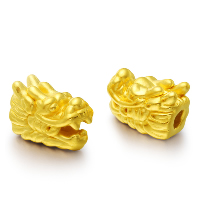 24K Gold Perlen, 24 Karat Gold, Drachen, 9x13mm, Bohrung:ca. 1-2mm, verkauft von PC