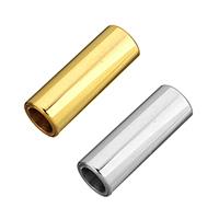 Edelstahl Magnetverschluss, Zylinder, plattiert, Handpoliert, keine, 16x6x6mm, Bohrung:ca. 4mm, 10PCs/Menge, verkauft von Menge