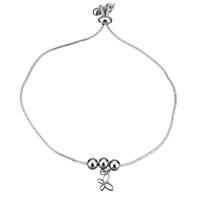 Edelstahl Schmuck Armband, Schmetterling, Armband  Bettelarmband & Schlangekette & für Frau, originale Farbe, 9x11x1mm, 5x6x6mm, 1mm, 8x4x8mm, verkauft per ca. 10 ZollInch Strang