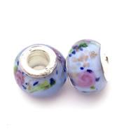 Lampwork Perlen European Stil, Rondell, handgemacht, Messing-Dual-Core ohne troll & großes Loch & Goldsand, 10x15mm, Bohrung:ca. 5mm, verkauft von PC